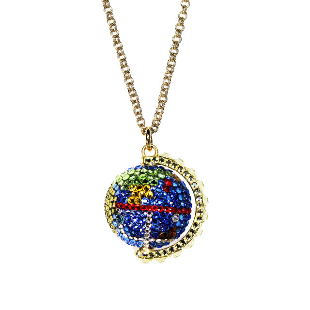 Earth Pendant / L   ~CRYSTALLIZED™ - Swarovski Elements~の画像1枚目