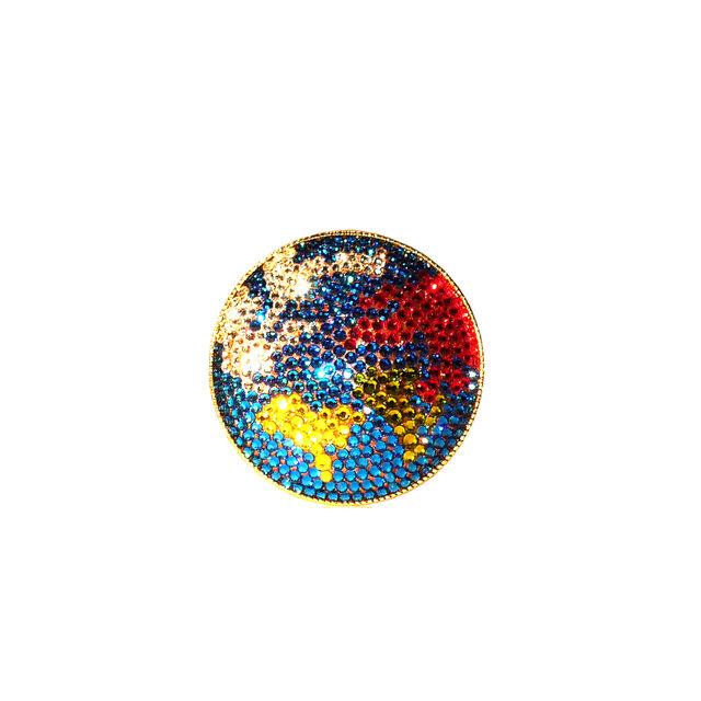 Earth Brooch  ~CRYSTALLIZED™ - Swarovski Elements~の画像1枚目