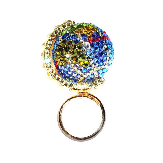Earth Ring / L  ~CRYSTALLIZED™ - Swarovski Elements~の画像1枚目