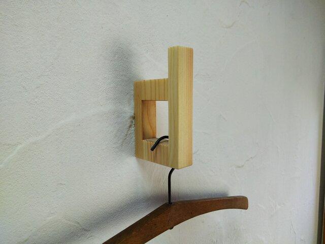 壁付けハンガーフック コートフック (type d) / 国産ヒノキの画像1枚目
