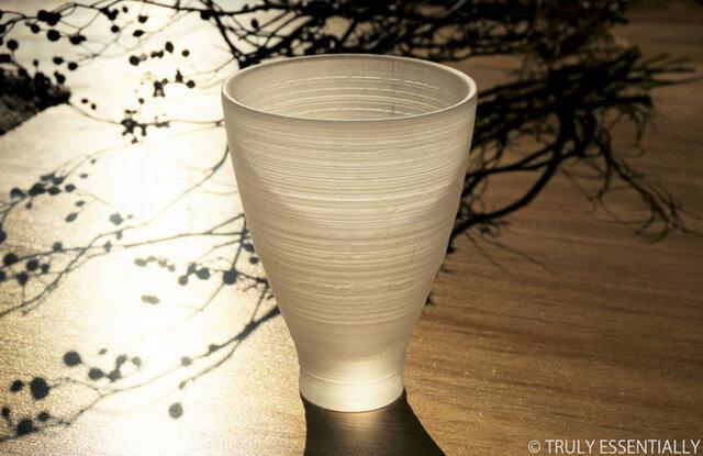 無色透明グラス -「 The Vessel of Light - 月明かりの器 」● 高さ13cmの画像1枚目