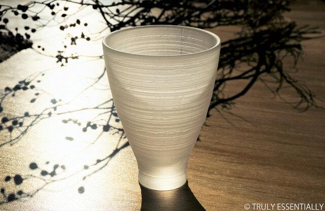 無色透明ガラスの器 -「 The Vessel of Light - 月明かりの器 」● 高さ13cmの画像1枚目
