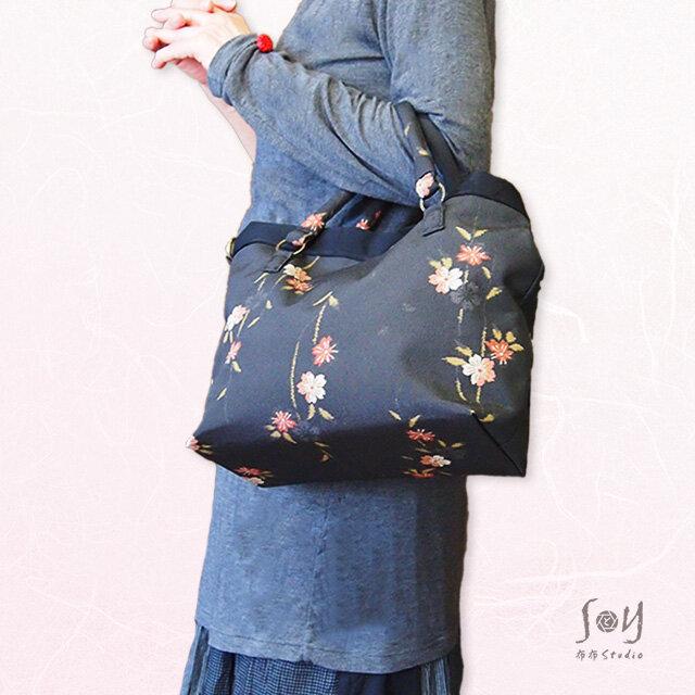 【1点限り】しだれ桜トート2WAYショルダーバッグの画像1枚目