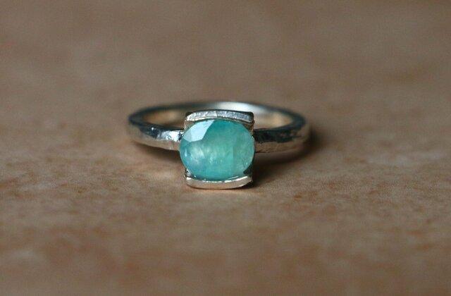 天然石*グランディディエライト 指輪*11号 SVの画像1枚目