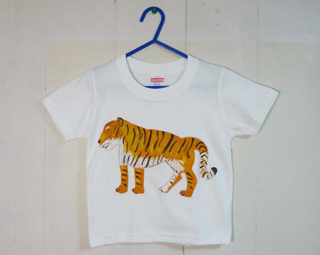 キッズTシャツ(トラ) 100㎝の画像1枚目