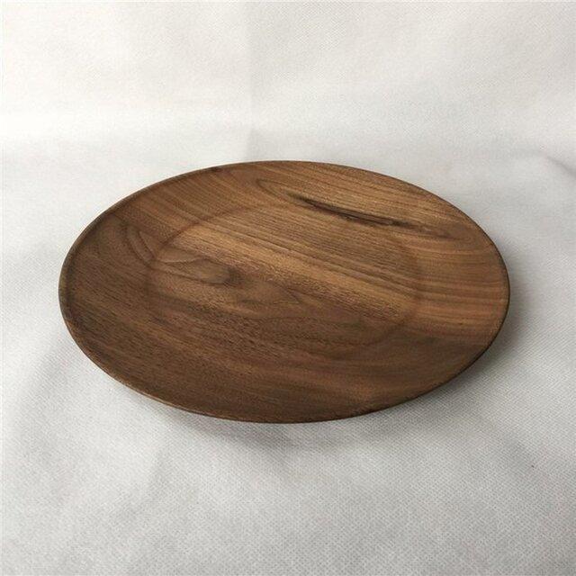 受注生産 ハンドメイド 木製プレート プレート フルーツプレート ウォールナット 中皿 ウッドデザイン ナチュラルの画像1枚目