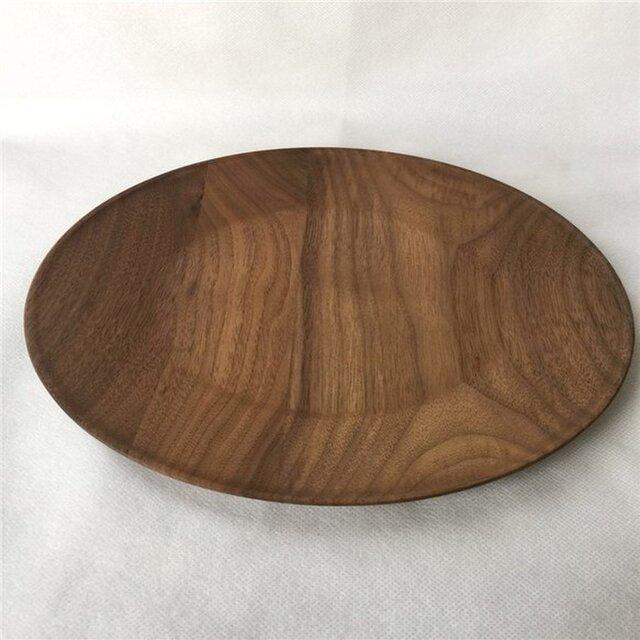 受注生産 ハンドメイド 木製プレート プレート フルーツプレート ウォールナット 大皿 ウッドデザイン ナチュラルの画像1枚目