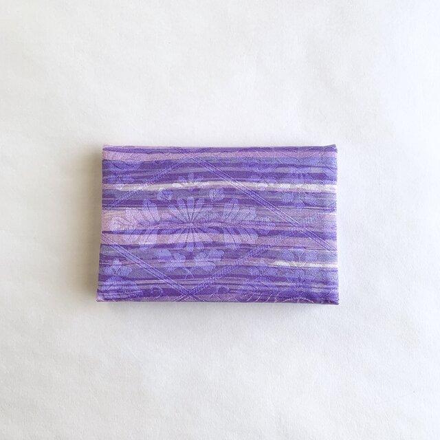 絹手染カード入れ(横・紫系)の画像1枚目