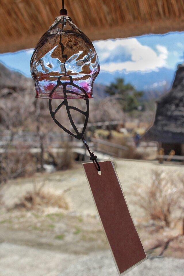 ガラスの風鈴(赤)の画像1枚目