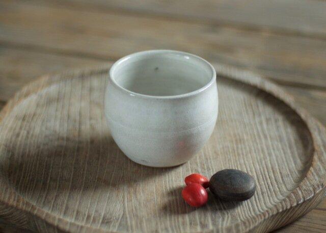 白釉 丸湯のみ(無)の画像1枚目