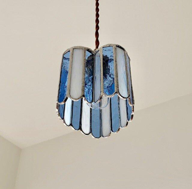 『ヒーリング ナイト』ハート型ランプ アイスブルー BayViewの画像1枚目