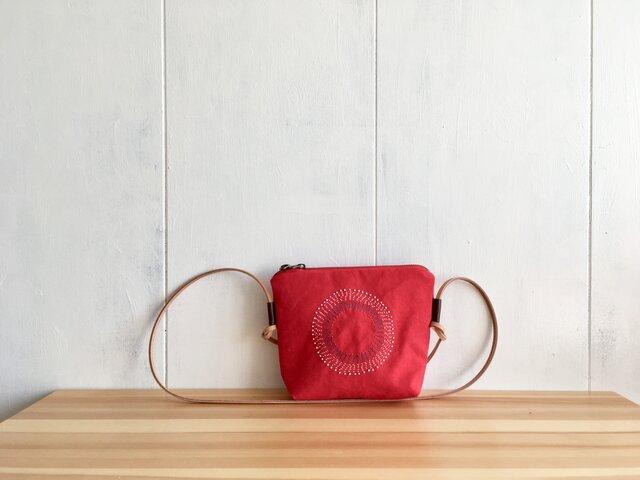 【Sale】赤いショルダーバッグの画像1枚目