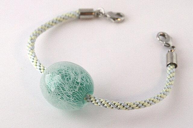 繭のようなとんぼ玉の羽織紐の画像1枚目