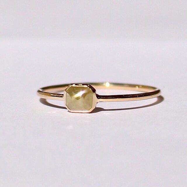 Natural Milky Diamond  Ring / K18YGの画像1枚目