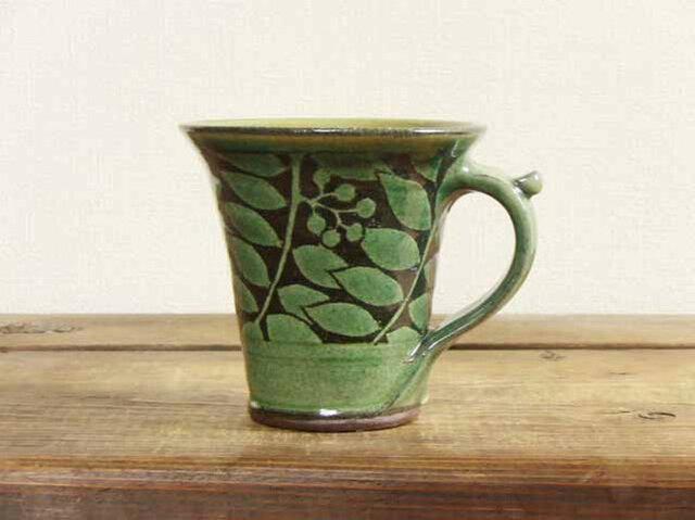 ナナカマドのマグカップ(緑)/オーダーメイド受付可の画像1枚目