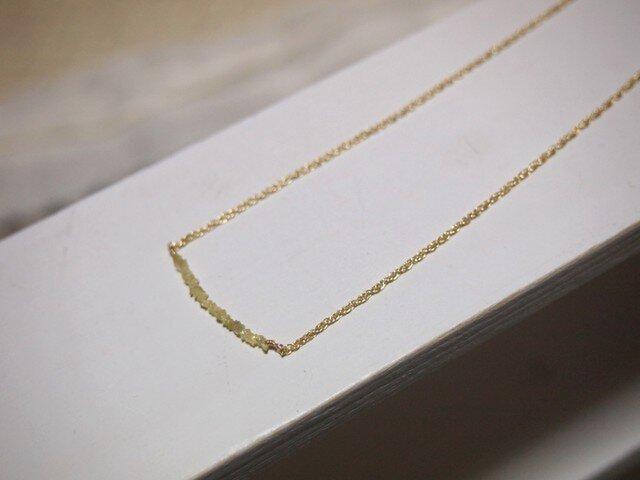 イエローダイヤモンドネックレスの画像1枚目