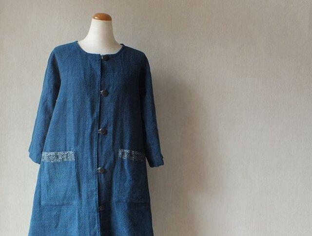 石瓶藍の里から・・7分袖の(半手縫い)半コートできましたの画像1枚目