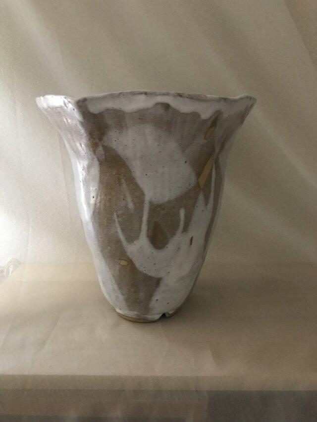 花器 萩土+萩釉の画像1枚目