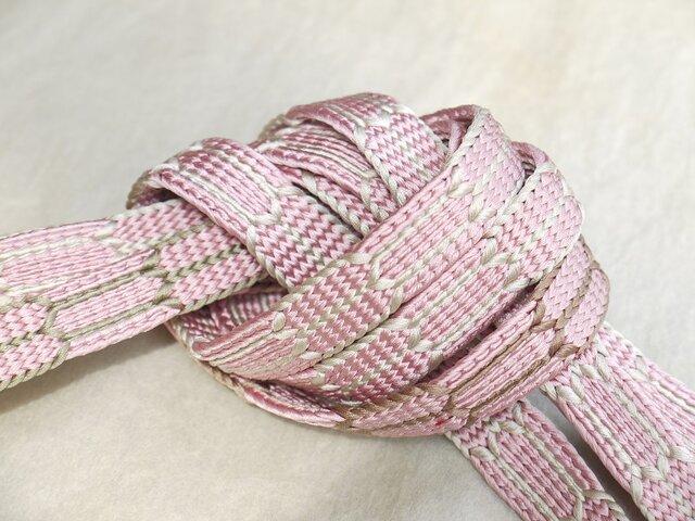 手組み正絹組紐【亀甲(4色)】134A018027の画像1枚目