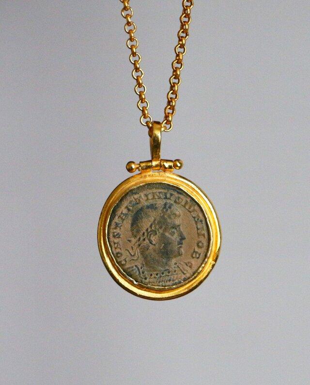 古代スタイル*古代ローマンコイン ネックレス*GPの画像1枚目