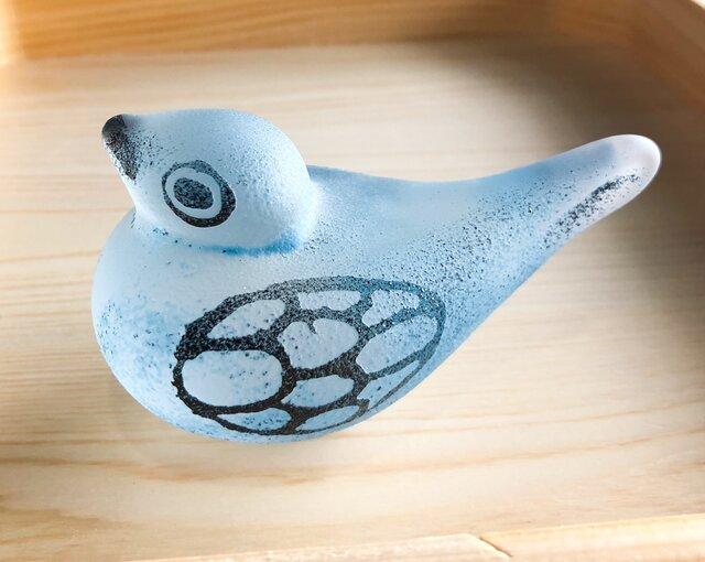 ガラスの鳥(青)の画像1枚目