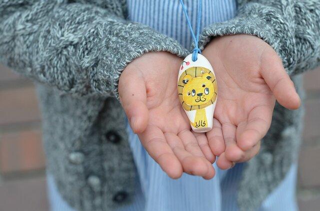 ミニセラリーナ6音 動物柄(ライオン)子供の指先能力向上やプレゼントに♪の画像1枚目