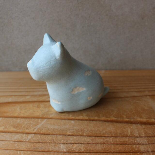 陶 オブジェ 空シリーズ  犬  レオ 花器の画像1枚目