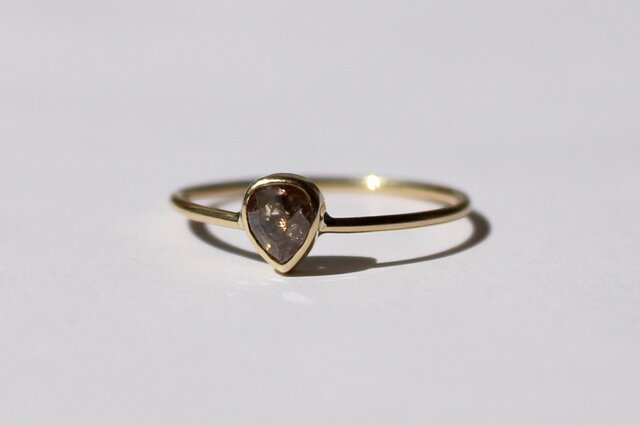 Natural Darkbrown Diamond  Ring / K18YGの画像1枚目