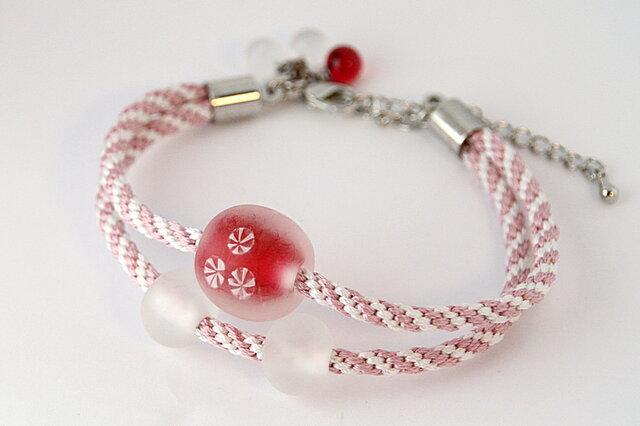 組紐二連羽織紐と小粒のネックレス(C様お取り置き品)の画像1枚目