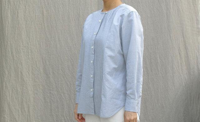 タックシャツ/light blue grayの画像1枚目