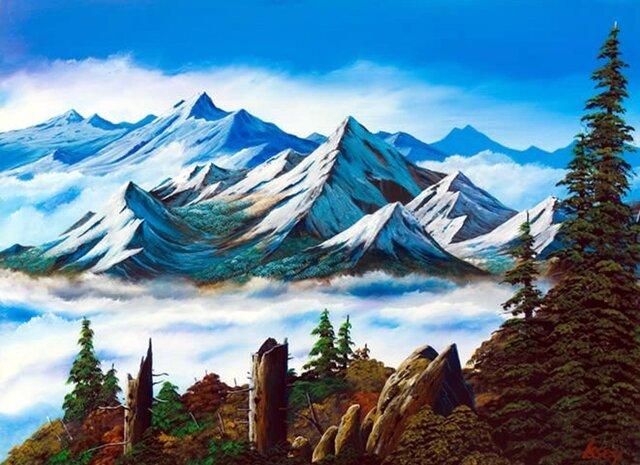 南アルプスの雲海2の画像1枚目
