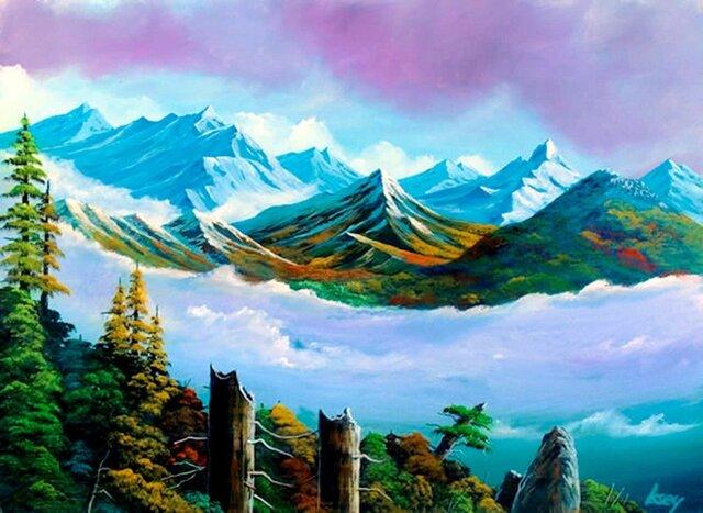 南アルプスの雲海1の画像1枚目