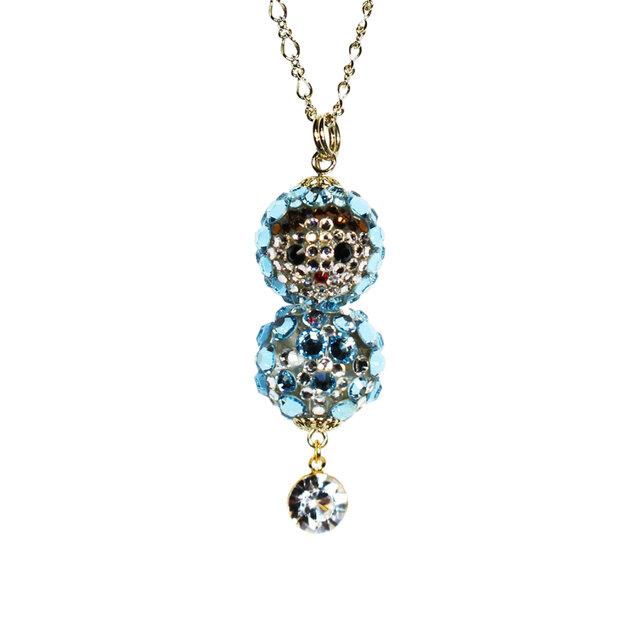 Matryoshka Pendant /Aquamarine ~Swarovski Elements~の画像1枚目