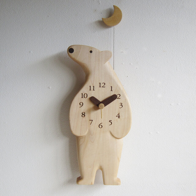ポーラベア 掛け時計の画像1枚目