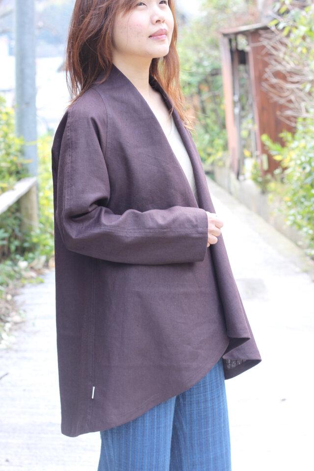 綿麻・羽織りジャケットの画像1枚目