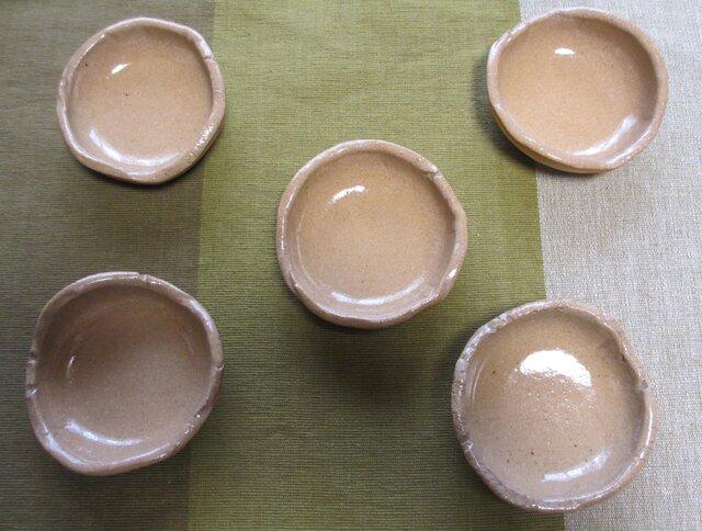 [送料無料] 陶器 豆皿・小皿 5点セットの画像1枚目