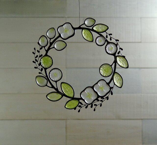 ガラスのリース [新緑]Lの画像1枚目
