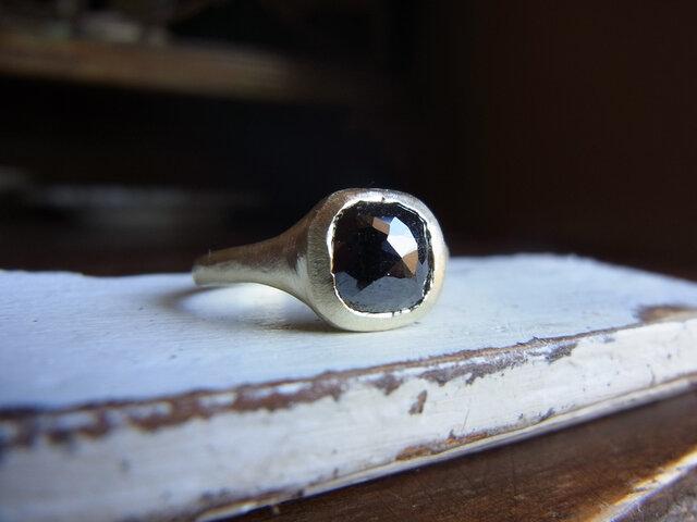 限定K10 ローズカットダイアのリングの画像1枚目