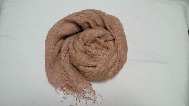 草木染め シルク二枚織りストール(桜)の画像1枚目
