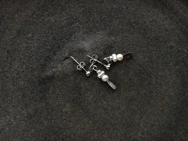 メタリックビーズピアス no.022の画像1枚目