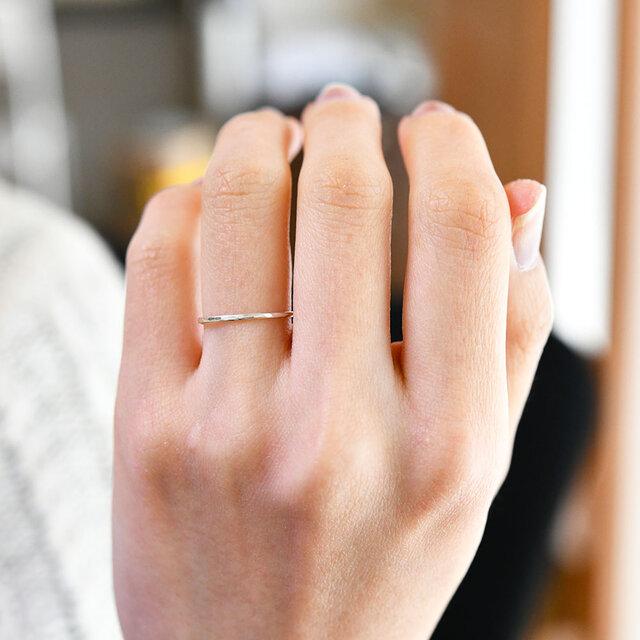 万能の存在 シルバーの槌目リング ピンキーリング ファランジリング 指輪 重ね付けにもの画像1枚目