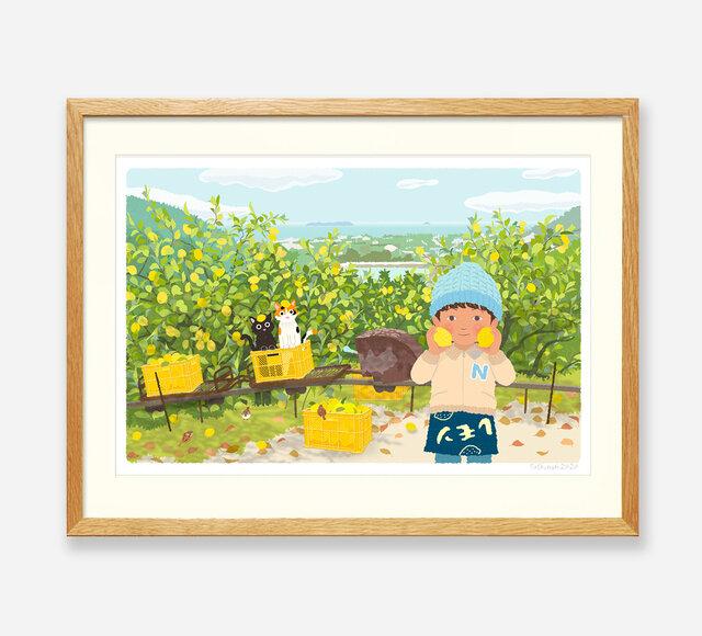 イラストフレーム(26.レモン畑のモノレール)の画像1枚目
