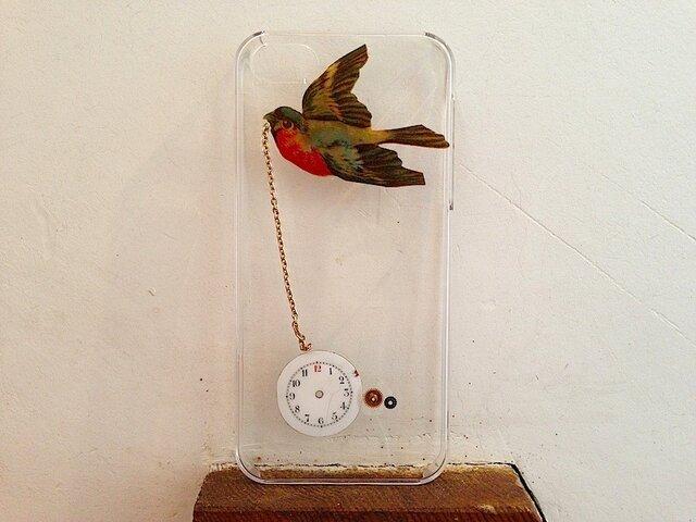 iPhone5ケース 時をかける鳥の画像1枚目