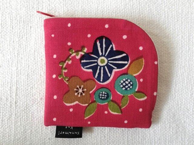 型染め 財布「小さな花束」の画像1枚目