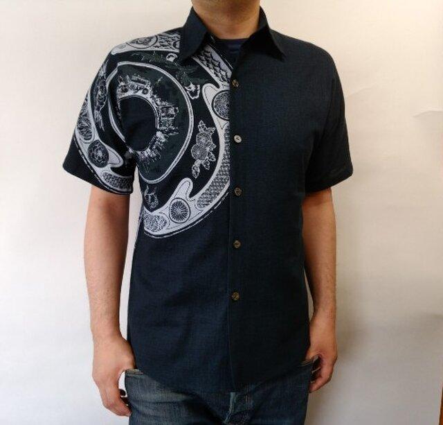 善工房×Ubatamaコラボシャツ(東京絵皿)の画像1枚目