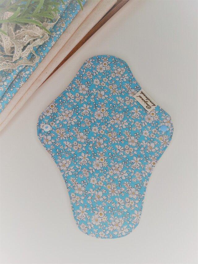 完全防水 布ナプキン オーガニックコットン  リバティの画像1枚目
