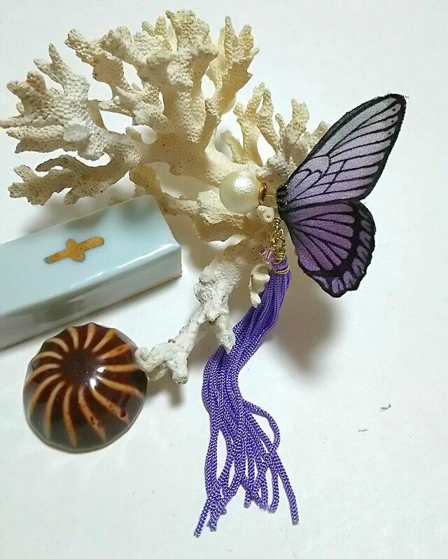 蝶のピアス (大) マダラ系の画像1枚目