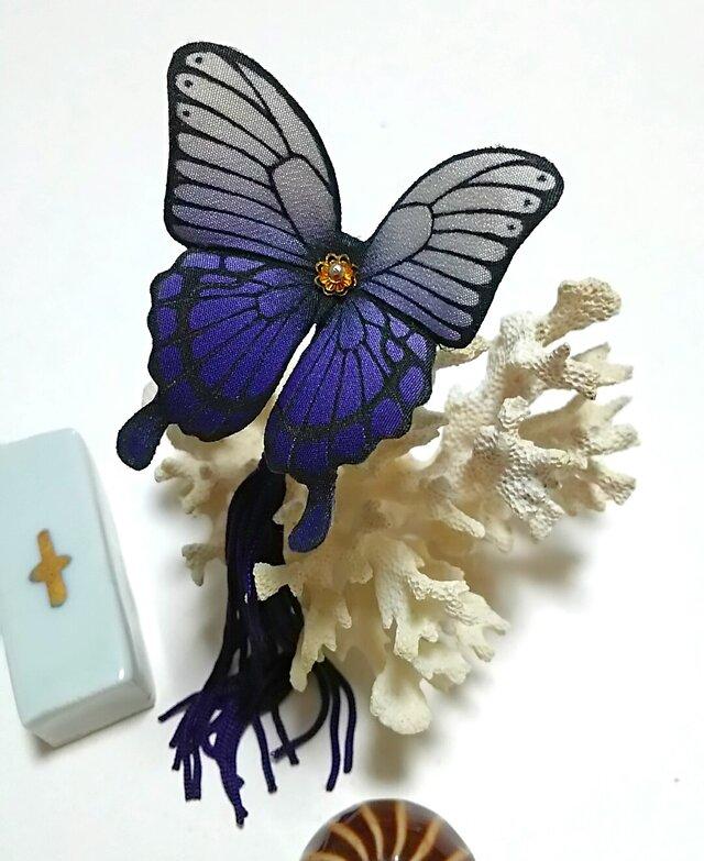 蝶のかんざし(小)アゲハの画像1枚目