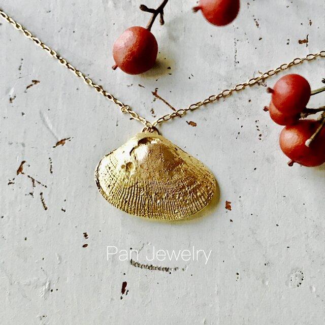 真鍮ネックレス / 真珠貝の画像1枚目