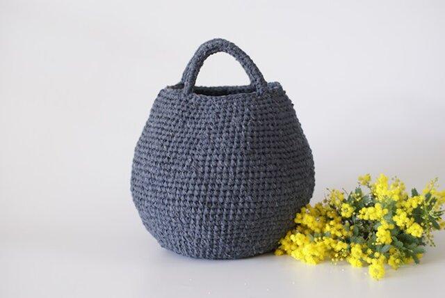 まんまるバッグ (裂き編みバッグ)の画像1枚目